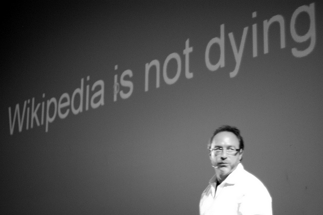 Wikipedia founder Jimmy Wales.
