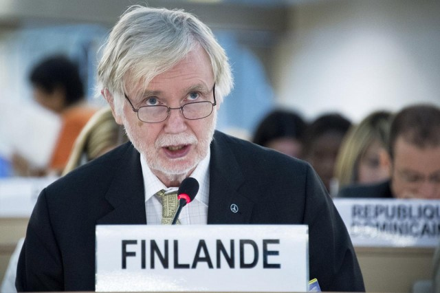 Foreign Minister Erkki Tuomioja spoke to Finnish national media in Helsinki on Thursday.