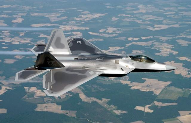 Lockheed's F-22 Raptor.