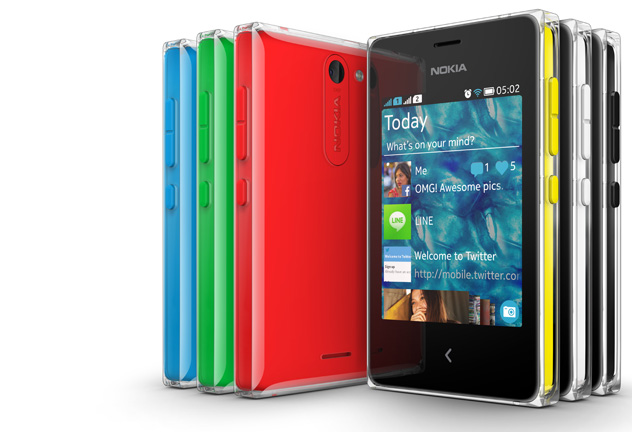 Nokia's Asha Phones: Just as colorful, oh so affordable.