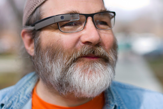 The first version of Google Glass, with an internal-only glasses mod.