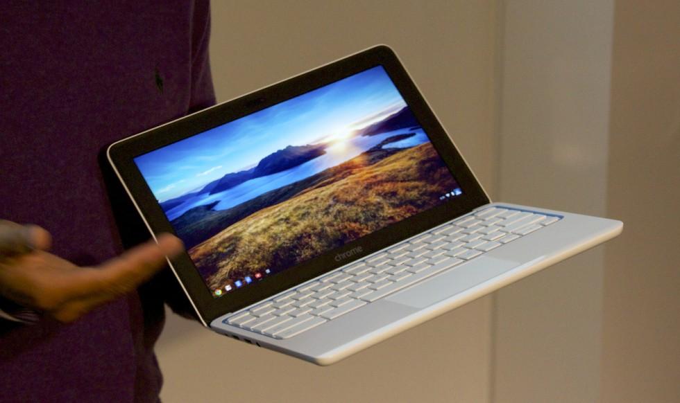 Google's Caesar Sengupta introduces HP's Chromebook 11.