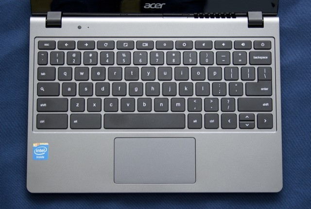 The keyboard and trackpad.