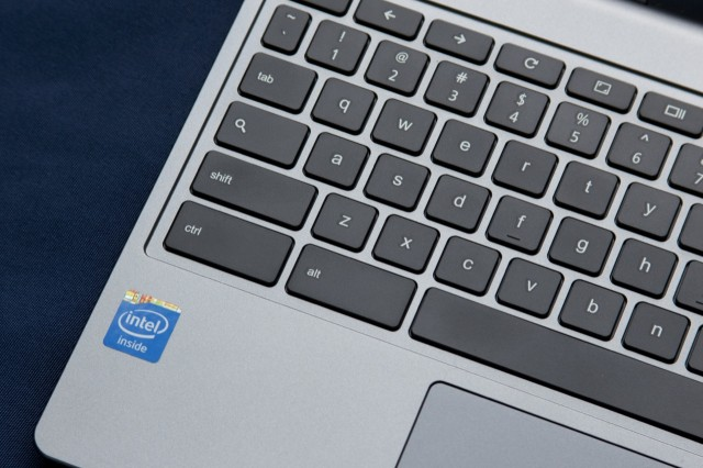The keyboard's keys aren't quite full-size, and key travel is still shallow compared to the Chromebook 11.