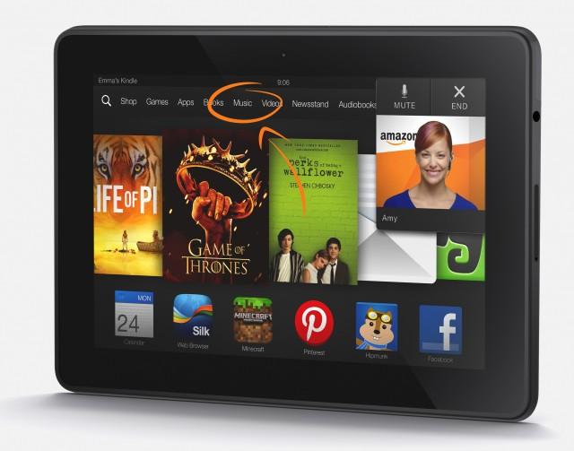 The Kindle Fire HD.