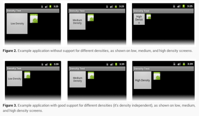 Google demonstrates the difference between an Android app that scales well and one that doesn't.