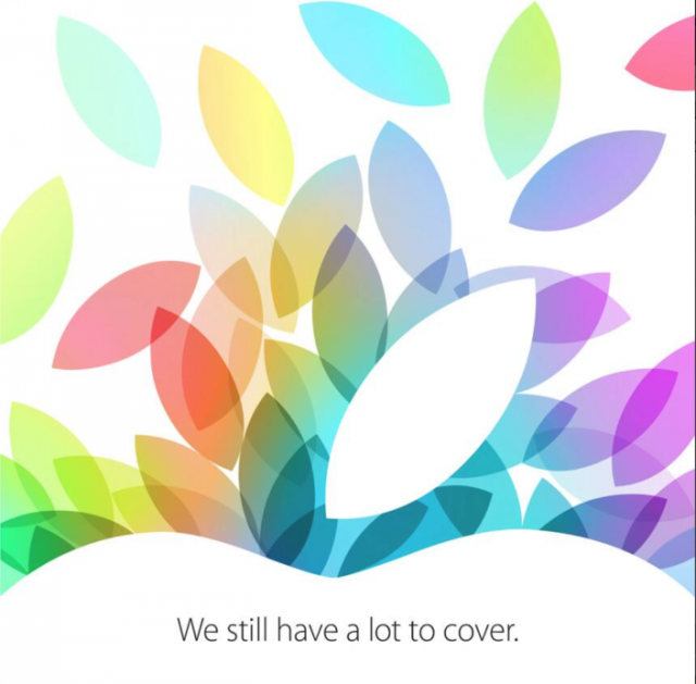 Apple to hold event on 22 October; new iPads very, very likely