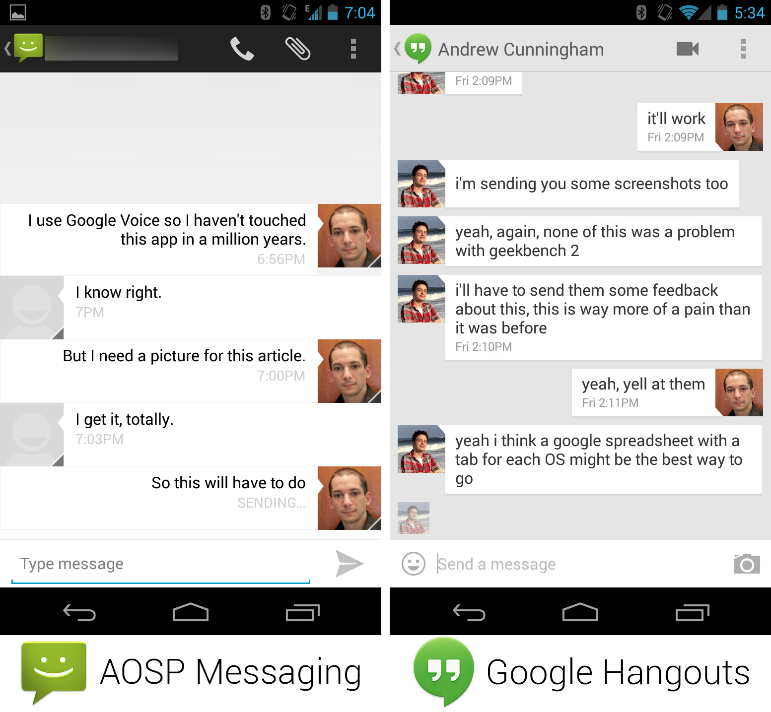 Am I the only one who thinks the Hangouts app is incredibly ugly