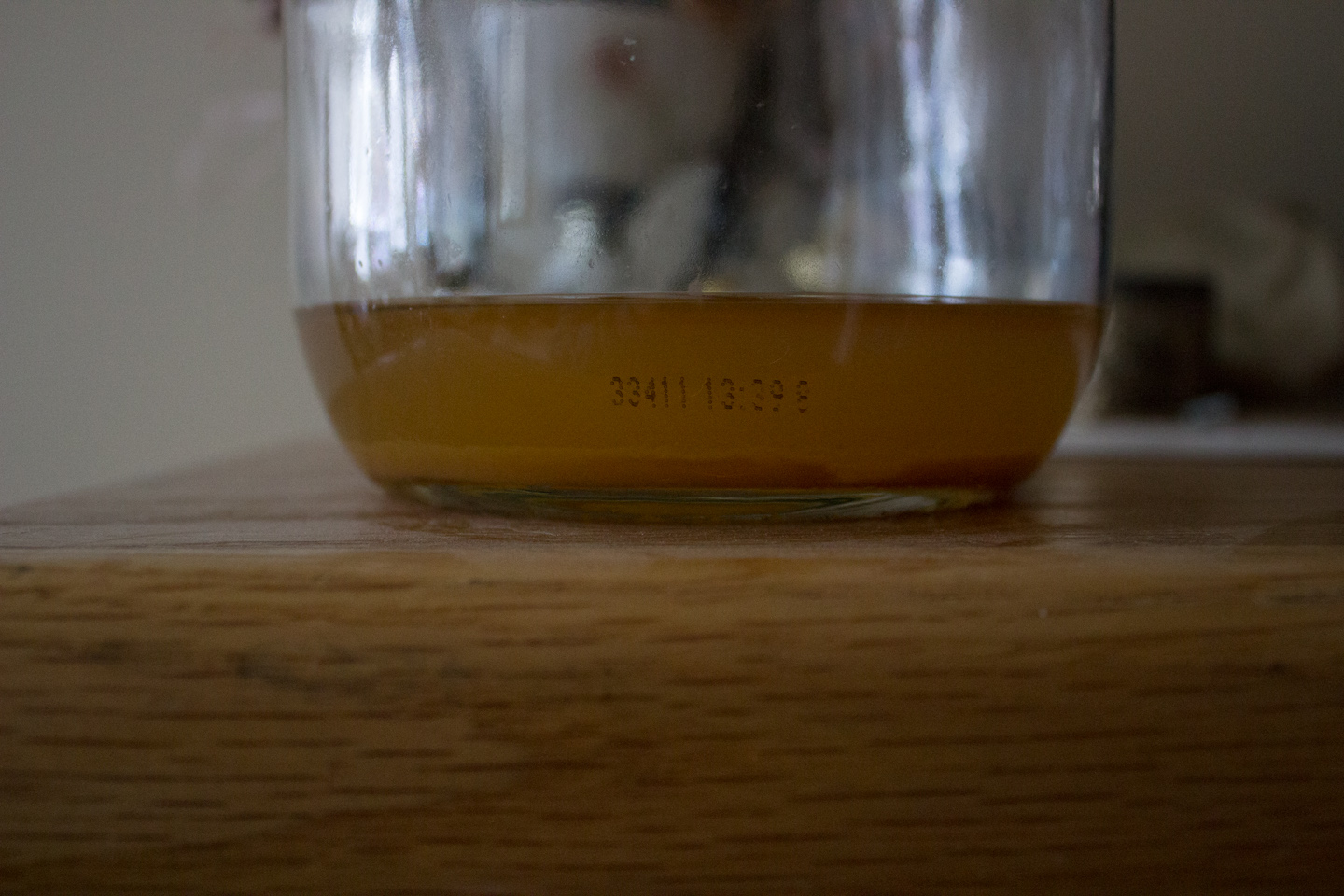 The sediment remaining after the cider settled out in a secondary fermentation vessel.