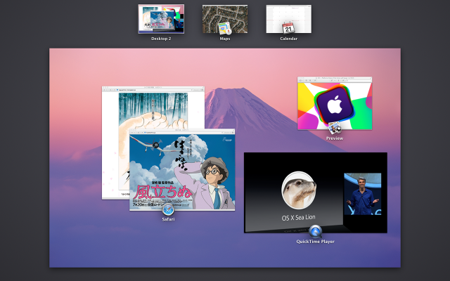Screenshot from a second monitor on Mavericks, from the Siracusa review.