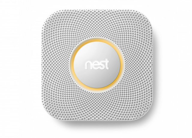 The Nest Protect: a speaker, a lighted ring, and a giant button.