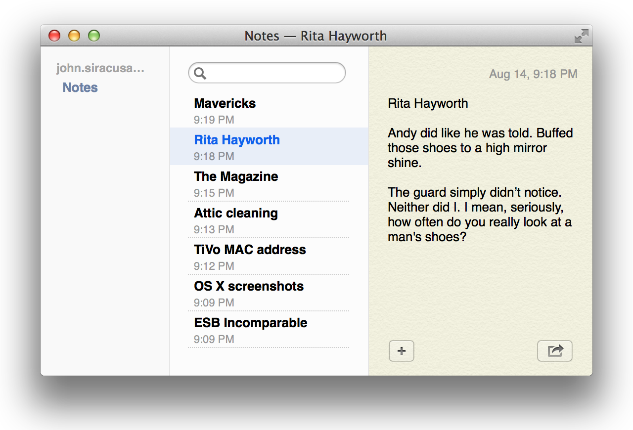 The new Notes applications does not stand out in a crowd.