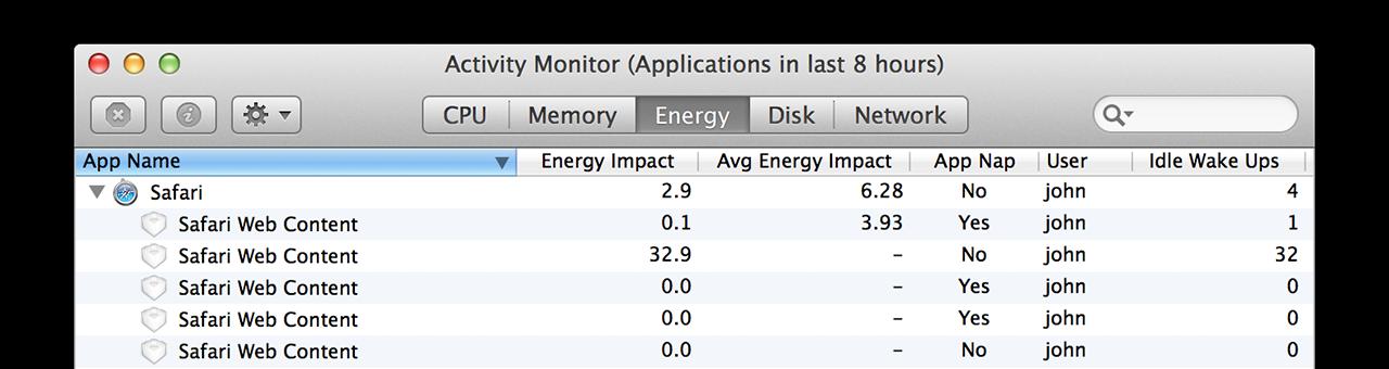 At last, separate Safari Web Content processes for each tab.