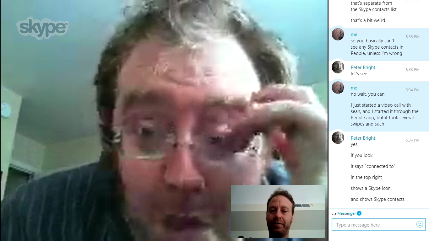 The two best-looking members of the Ars Technica team in one screenshot. Can you handle the sexy?