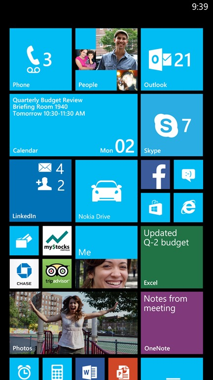 Phones with 1080p screens will be able to cram even more live tiles onto the Start screen.