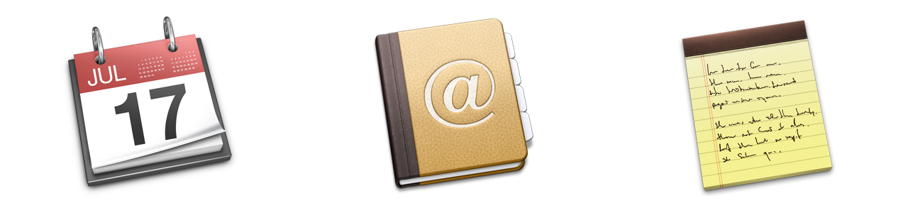 These applications have changed, but their icons still reflect their pre-Mavericks interfaces.