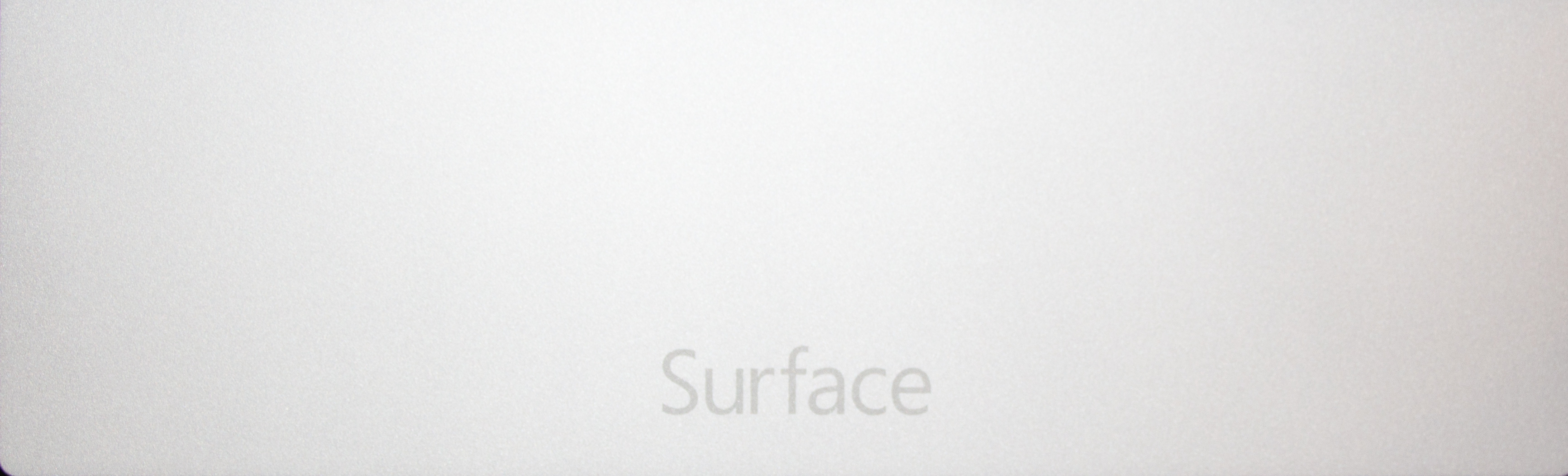 The Surface logo replaces the Windows logo on the back of the machine.