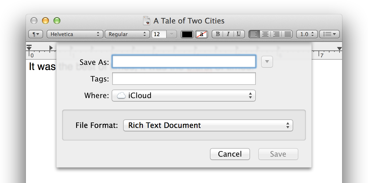 Add tags when saving a document—just make sure you enter them in the correct field.
