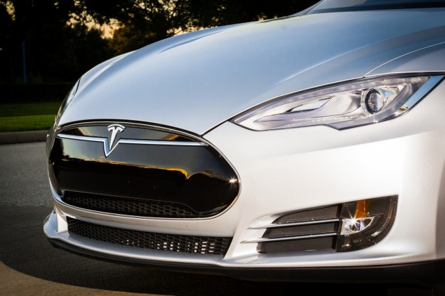 Features like the solid nosecone (as opposed to a large front grille or air intake) help the Model S to slip through the air and maximize energy efficiency. They also look cool.
