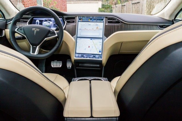 The cockpit of the Model S.