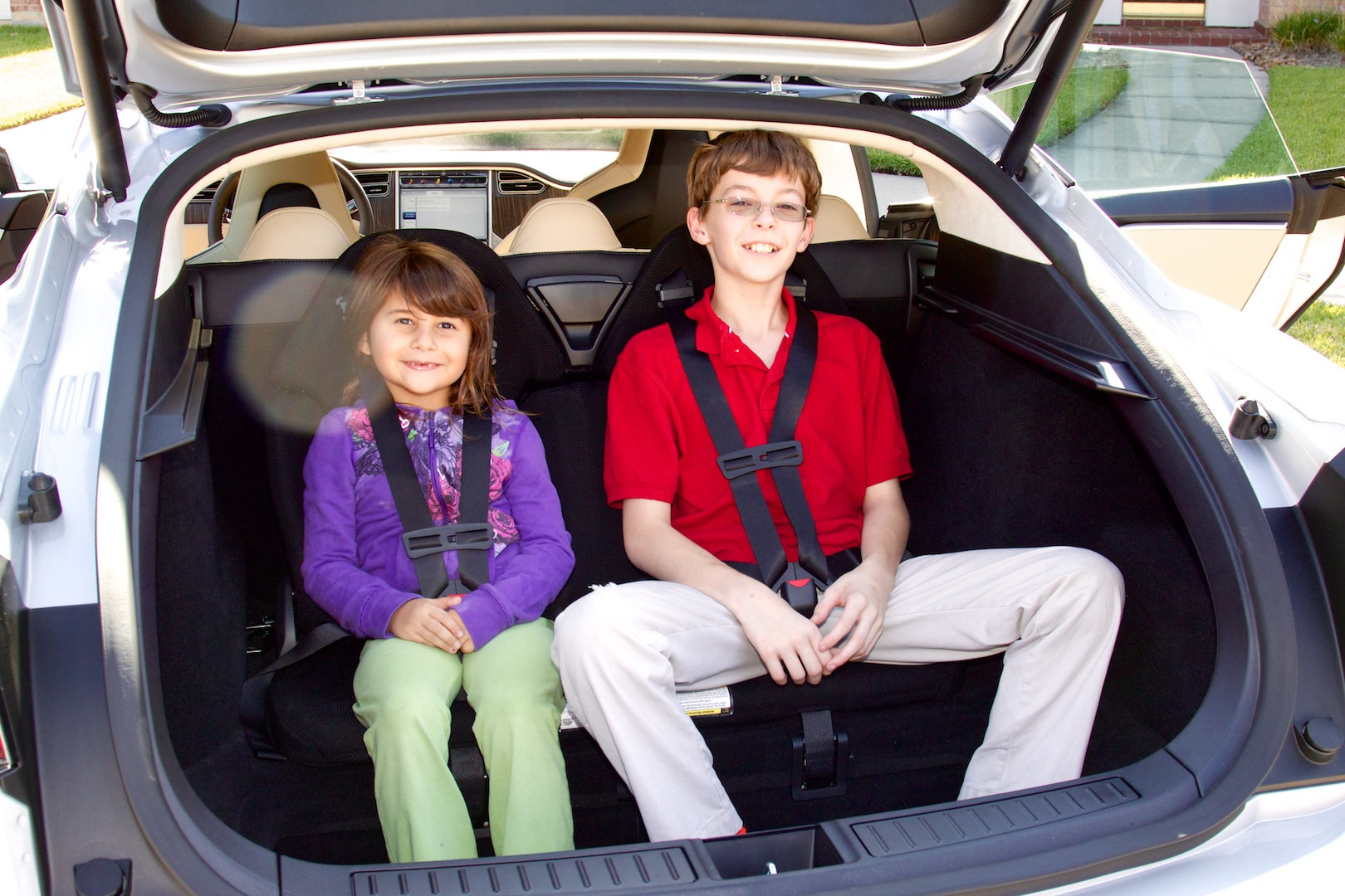 Our rear-facing jump seat testers approved wholeheartedly of both the car and the seating position.