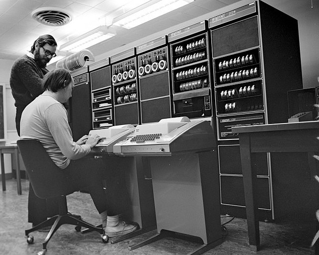 Unix creators Dennis Ritchie and Ken Thompson.