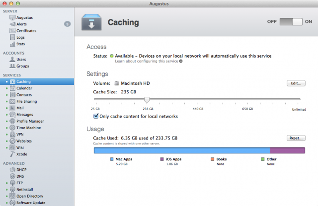 The Caching service is a modern not-quite-replacement for the old Software Update service.