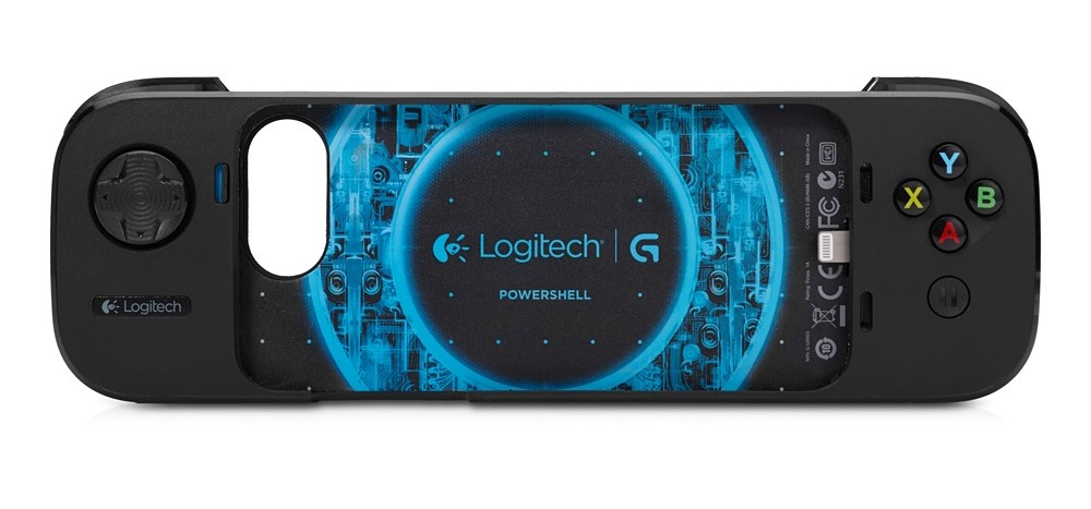 Logitech's PowerShell complies with Apple's Game Controller guidelines.