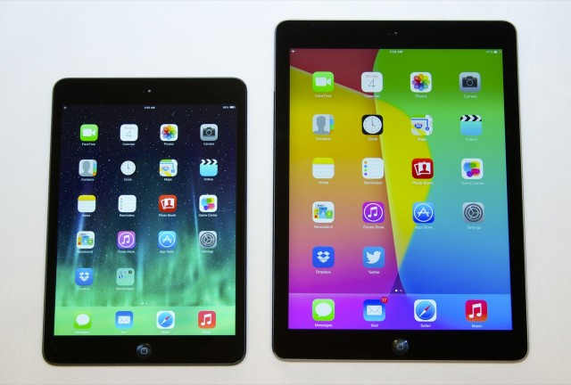 In fact, the new Air looks quite a lot like the iPad mini (left).