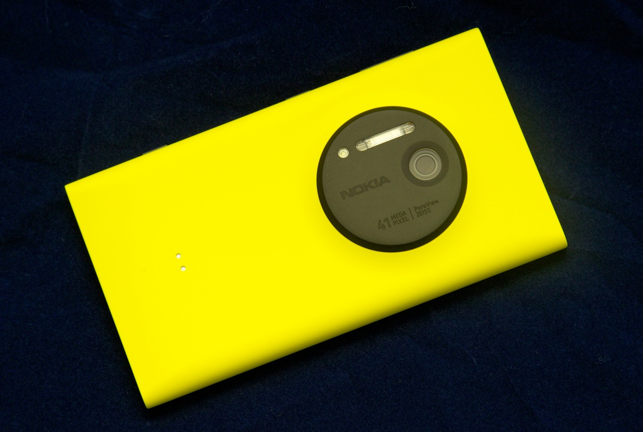 The Lumia 1020 puts its gigantic camera front-and-center.