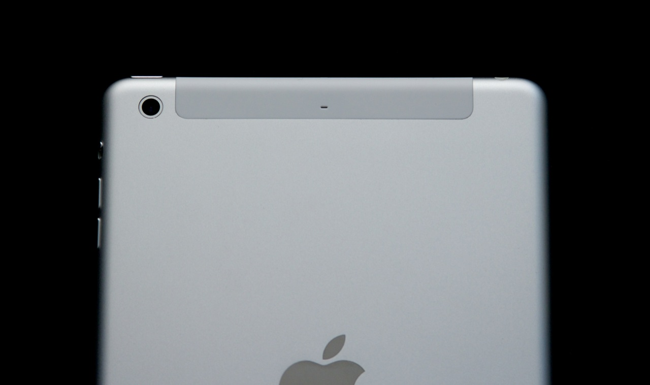 The cutout at the top of the tablet is only present on LTE models to let signal through.