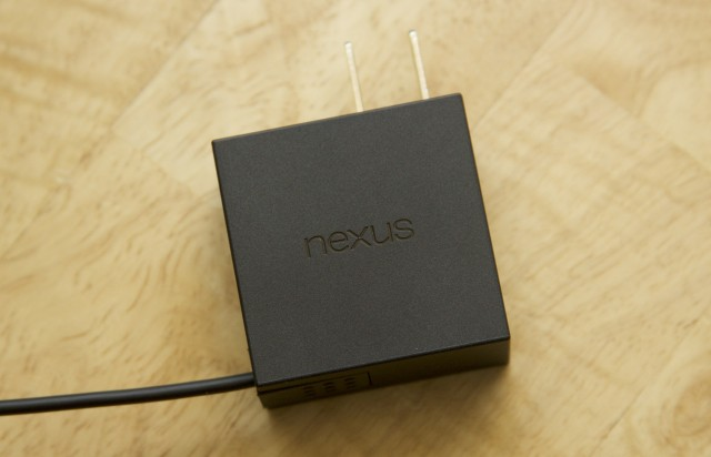 The power adapter is pretty nondescript, aside from the Nexus logo…