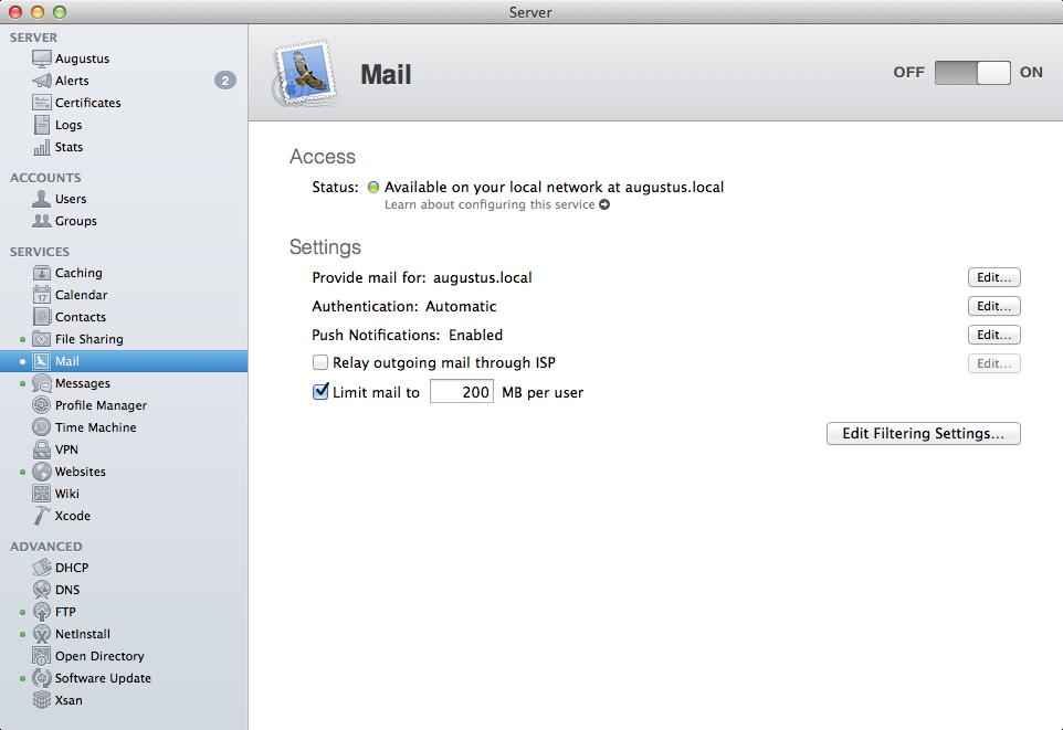 a power user s guide to os x server mavericks edition ars technica rh arstechnica com Mac Mail On PC Mac Mail Inbox