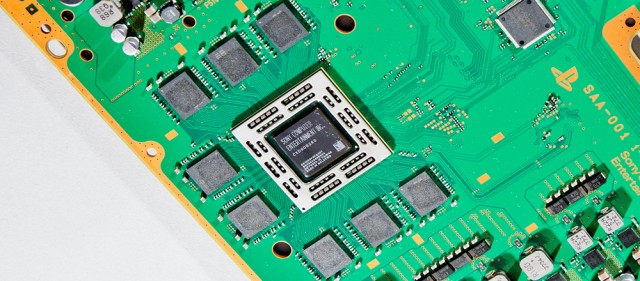 A shot of the PS4's main processor, courtesy of a teardown from Wired.