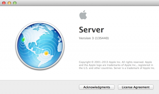 Mavericks runs version 3.0 of Server.app, the user-friendly face of OS X Server.