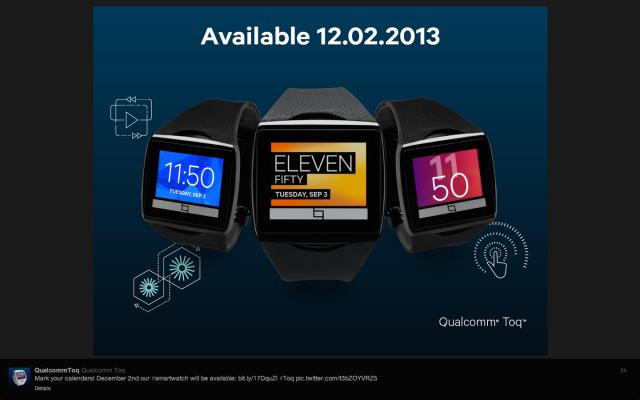 Qualcomm's Toq wants to be your platform-agnostic color smartwatch