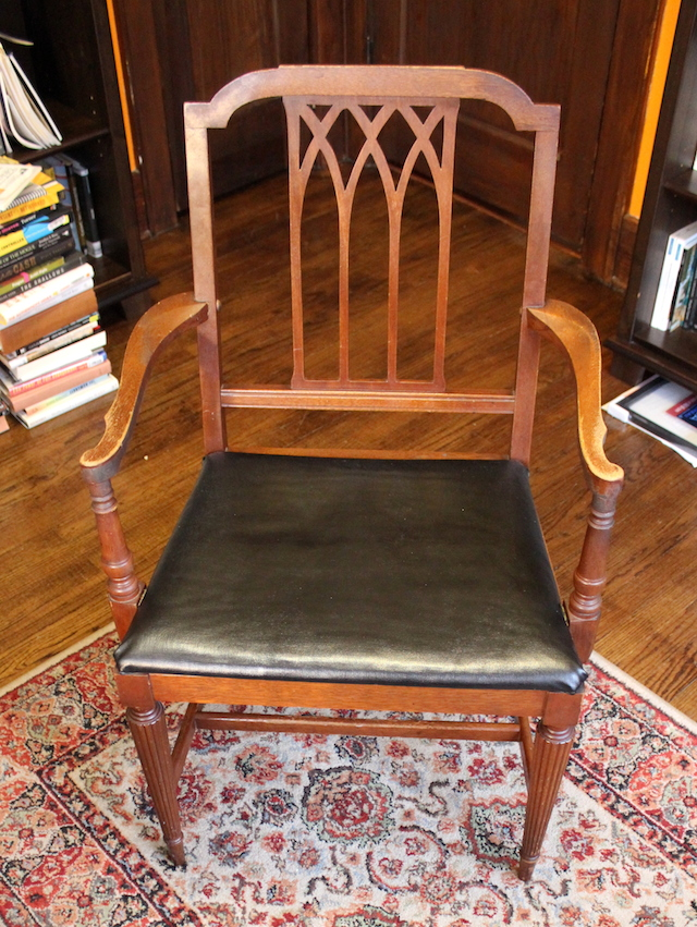 The chair of House Anderson. Not pictured: the lace doily of House Anderson.