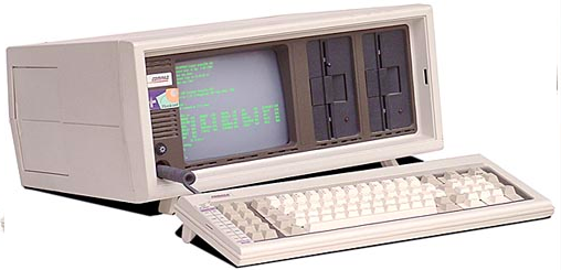 The Compaq Portable was the first of many IBM PC clones.