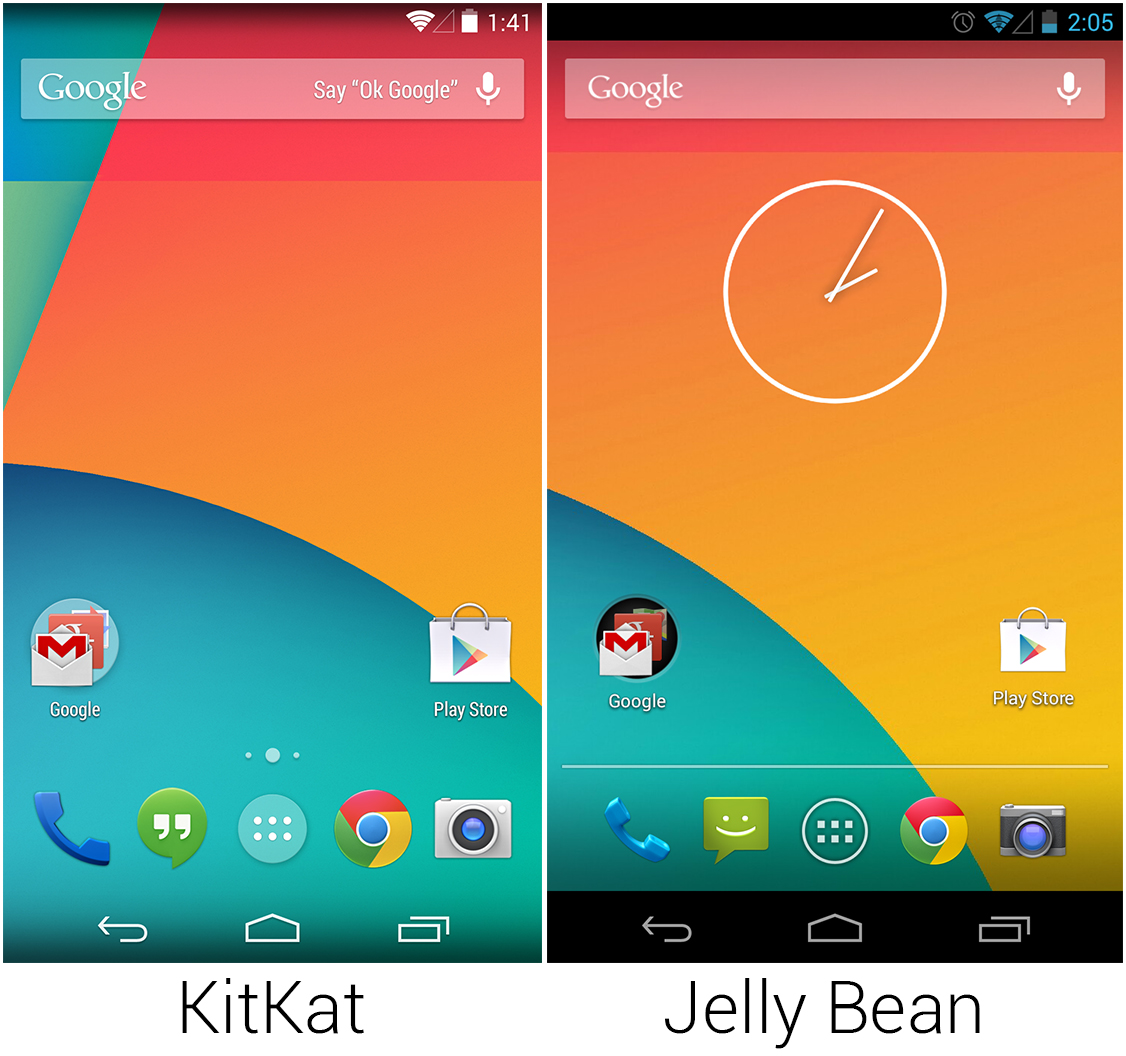 The KitKat and Jelly Bean launchers.