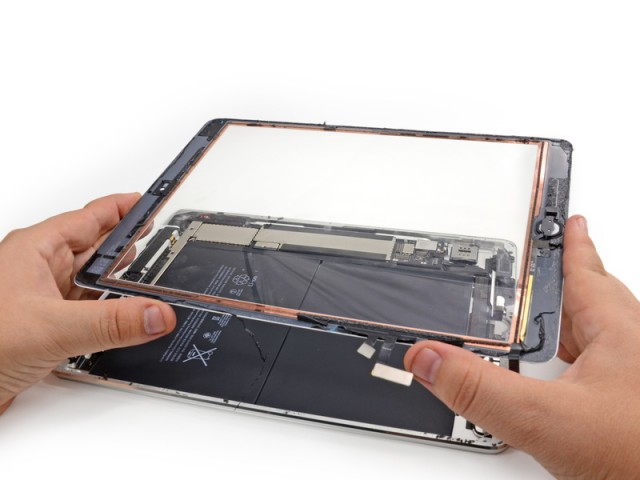 iFixit tears apart the iPad Air.