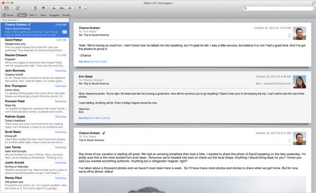 Mail in OS X 10.9.