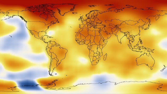 Temperature data from 2008 to 2012.