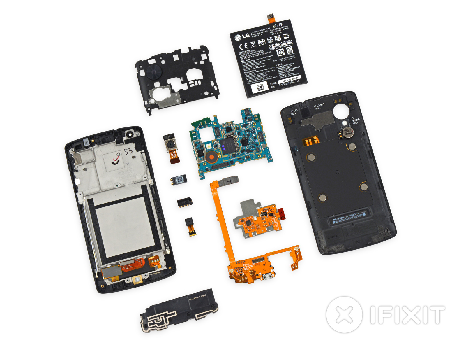 ifixit easily tears apart the decidedly high end nexus 5 ars technica. Black Bedroom Furniture Sets. Home Design Ideas
