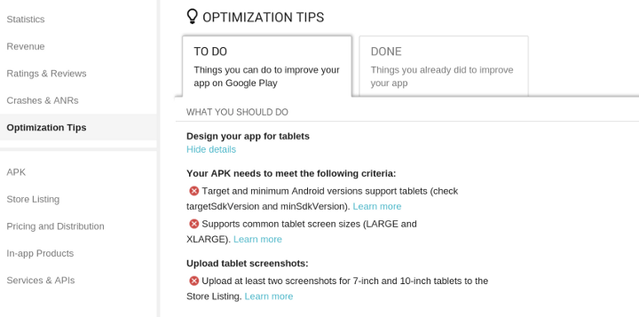 """Google Play rolls out """"designed for phones"""" tag of shame for apps on"""