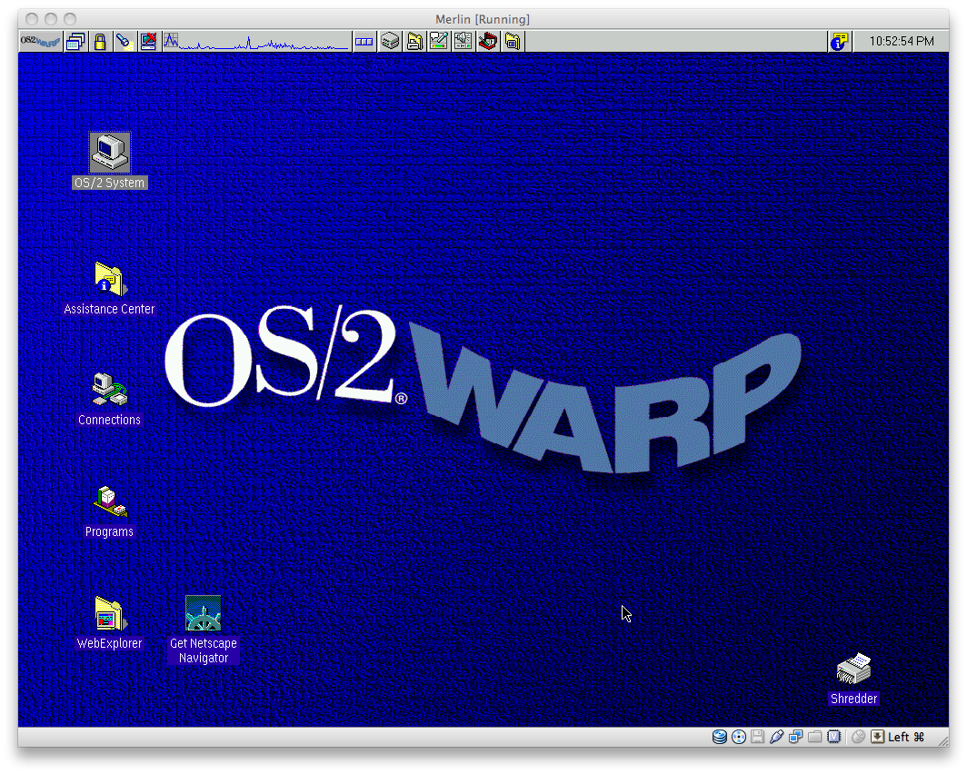 The final release of OS/2, version 4.0. Even colored tabs and wavy logos weren't enough to save it.