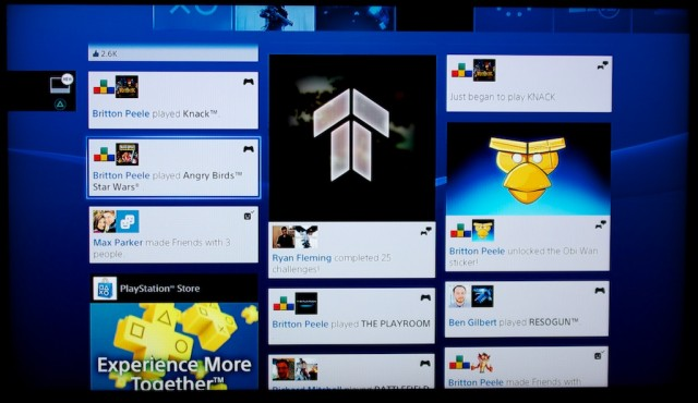 What's New? Pretty much everything associated with the PS4, that's what. Also, yes, that is an ad in the lower left corner.