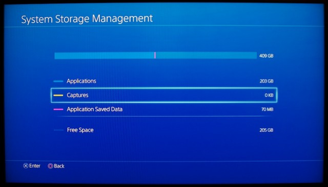 Eight games later and my PS4 is already halfway full...