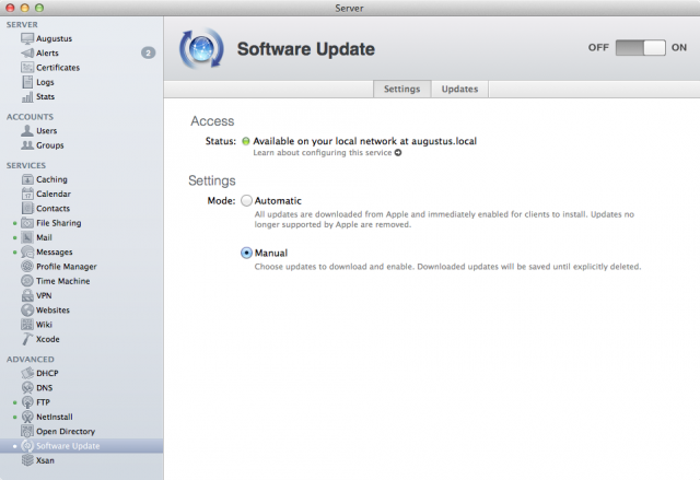 Andres Cheah: Apple: Mac OS X Server Software Update