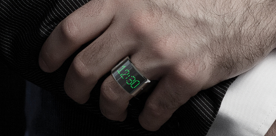 The first smartring has an LED screen, tells time, and accepts calls