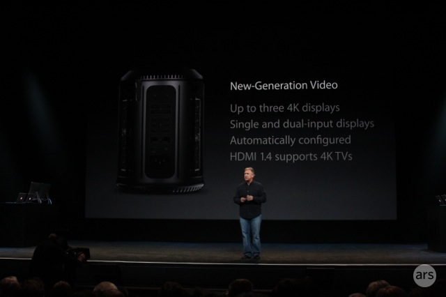 Apple's Phil Schiller talks up the new Mac Pro onstage in October.